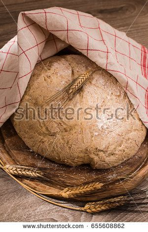 leavening of cereal bread shape with ear of corn