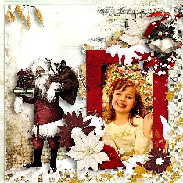 Layout using Once Upon A Christmas-Add on by G&T Designs for only a dollar at E-scape and Scrap. Photo by Nancy Farnum