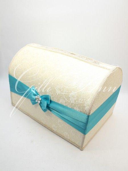 Свадебный сундучок для денег Gilliann Magic Biruza BOX044, http://www.wedstyle.su/katalog/anniversaries/wedding-box-money, wedding box