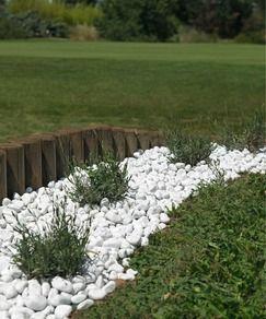 Gravier marbre blanc roulé