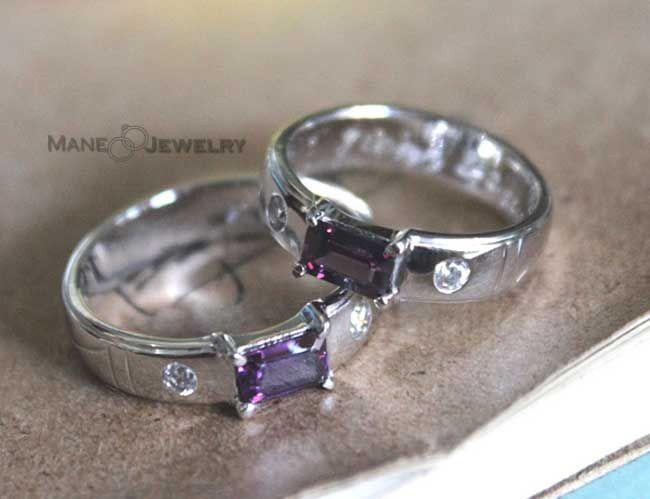 Cincin Kawin Model Purple Sepasang Elegan