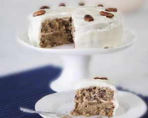 Maple pecan cake [buttermilk in batter, cream cheese and maple icing] | Rachel Allen