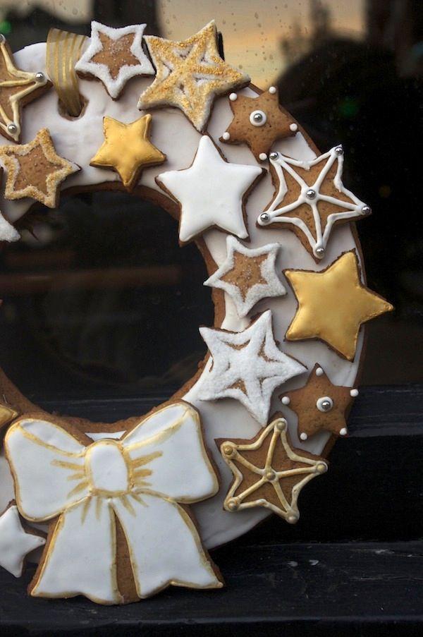 couronne noel pain epices Gingerbread à tous les étages ;  Couronne de Noël en pain d 'épices site  fashioncooking