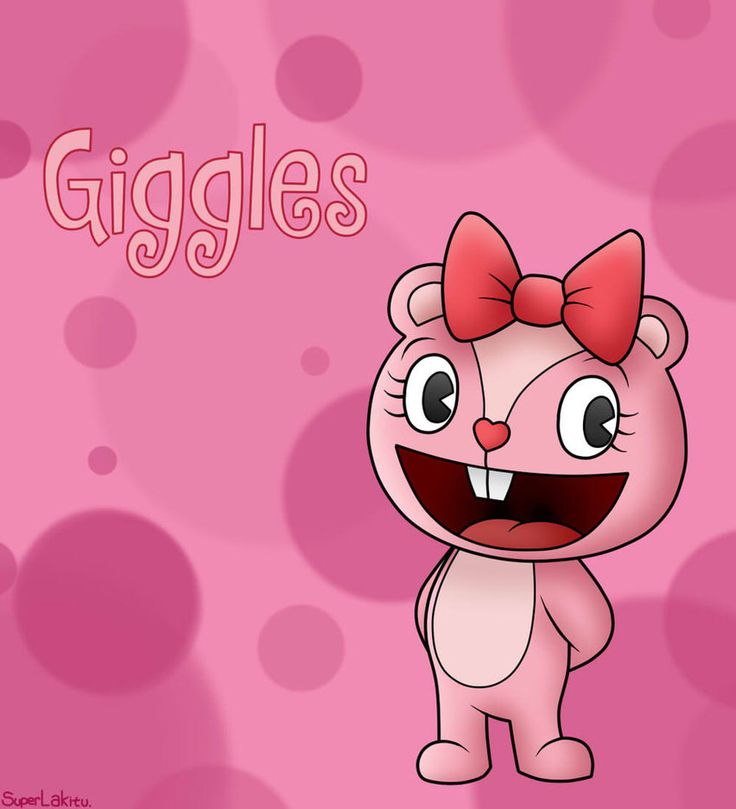Giggles is another main character and she is a bear who seems to freak out a lot and cares for everyone and cares for nature, and she does have an attitude at points. Her and cuddles get along great.