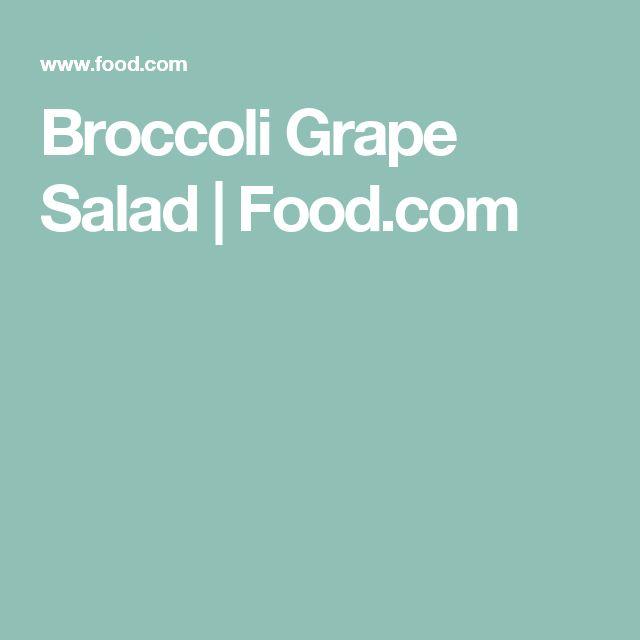 Broccoli  Grape Salad | Food.com