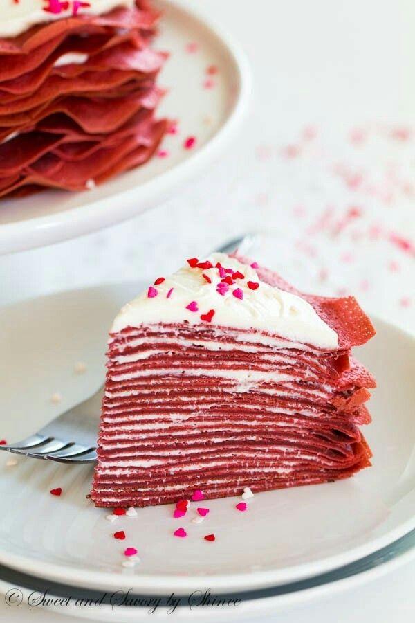 RED VELVET Crěpe Cake