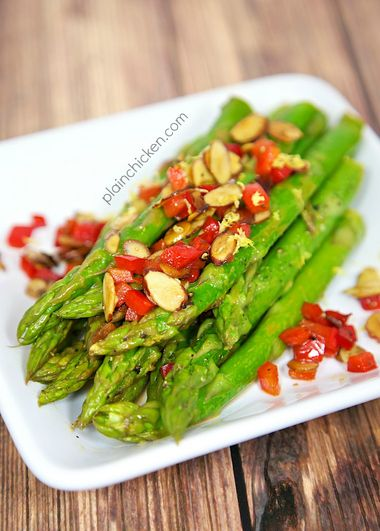 This Asparagus Amandine is a great weeknight side dish.