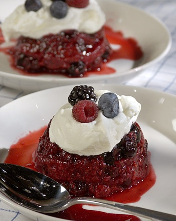 Individual Summer Puddings - perfect for a 4th of july party!