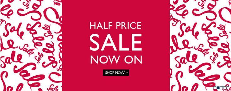 Half price sale web banner from Moss Bros #Web #Banner #Digital #Online #Marketing #Sale #Fashion