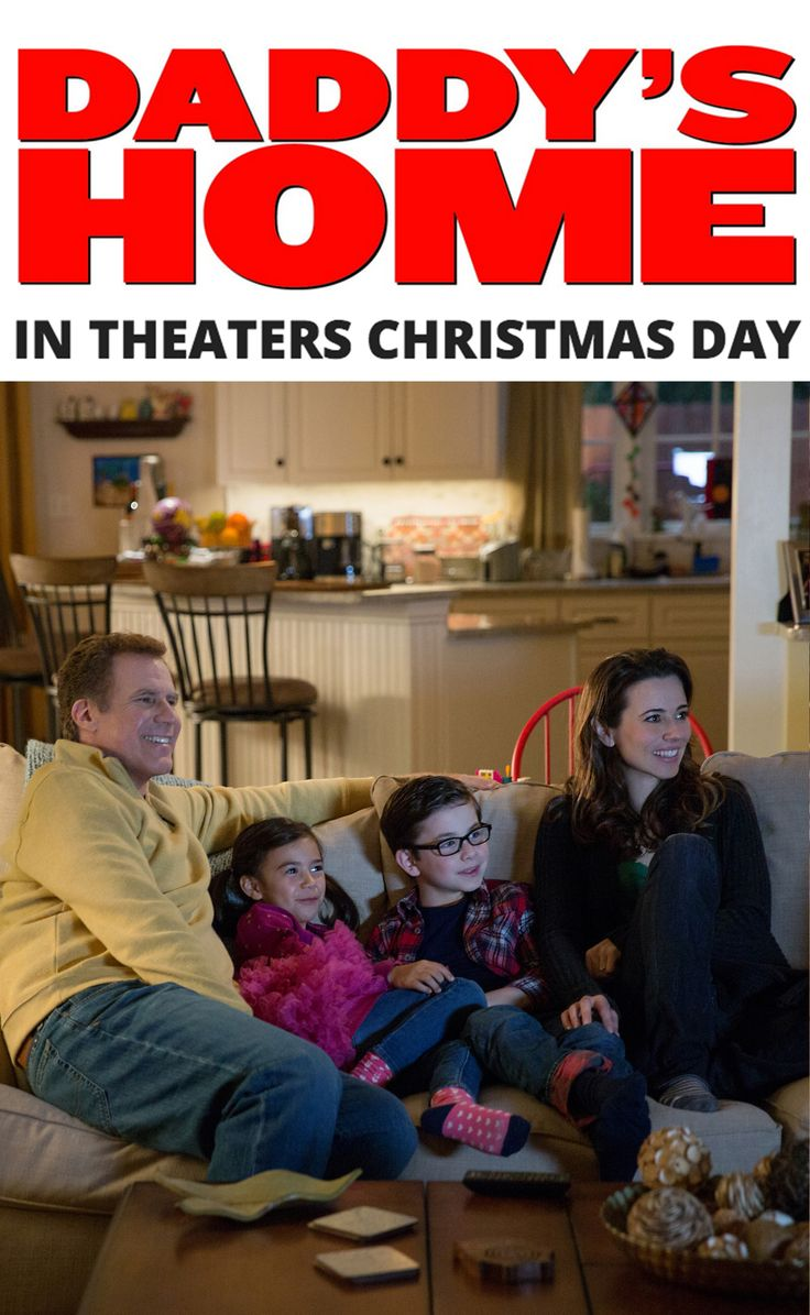 Holiday time means family time. Daddy's Home in theaters this Friday, Christmas Day.