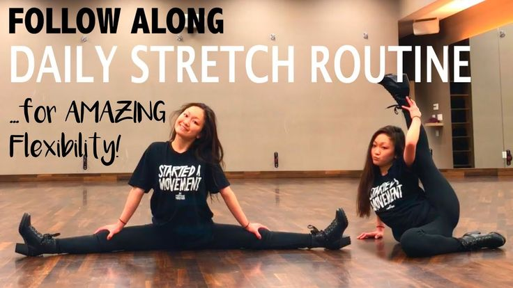 How to get FLEXIBLE FAST! FOLLOW ALONG Daily Stretch Routine