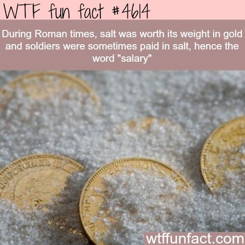 Facts about salt - WTF fun facts