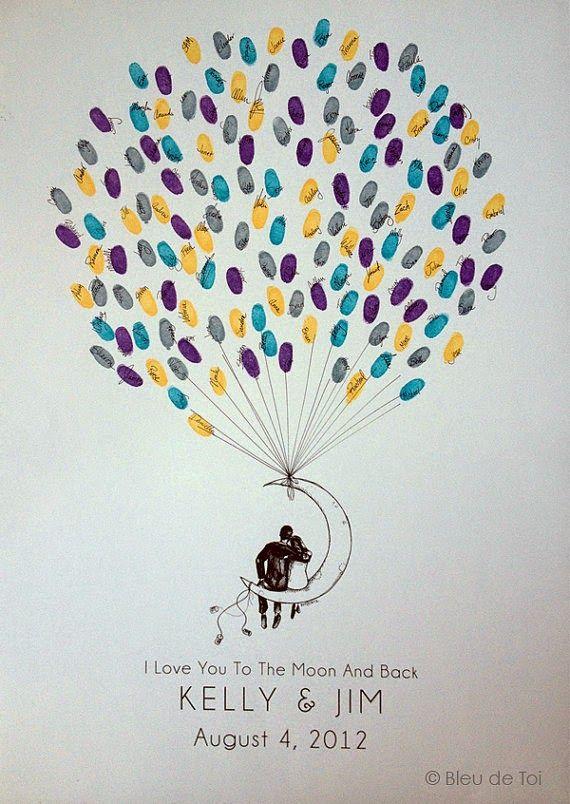Mariage un tableau empreintes pour les invit s vu - Idee arbre genealogique original ...