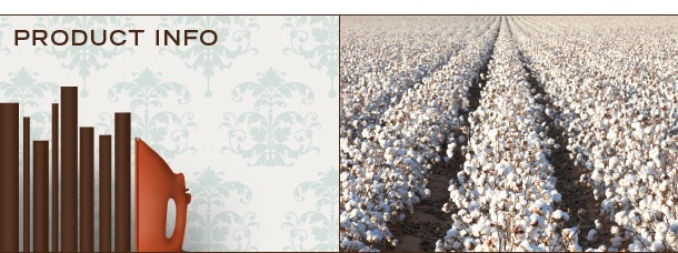 Brand of the Free Product Information, made in USA, 100% organic cotton