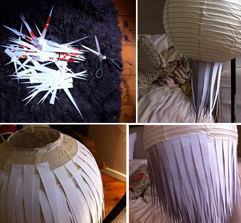 DIY Paper Pendant Light