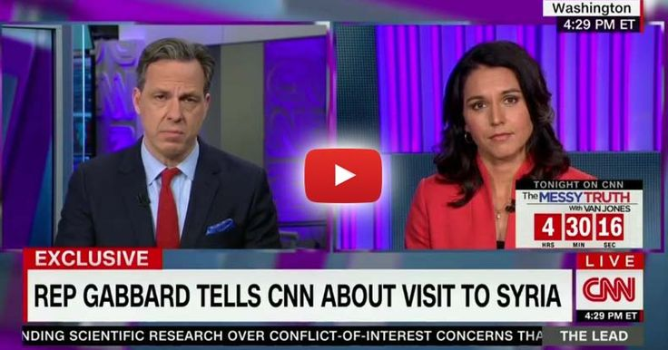 Rep Tulsi Gabbard went on a secret mission to Syria and bravely went on to CNN to tell Americans what she found, 'there are no moderate rebels.'