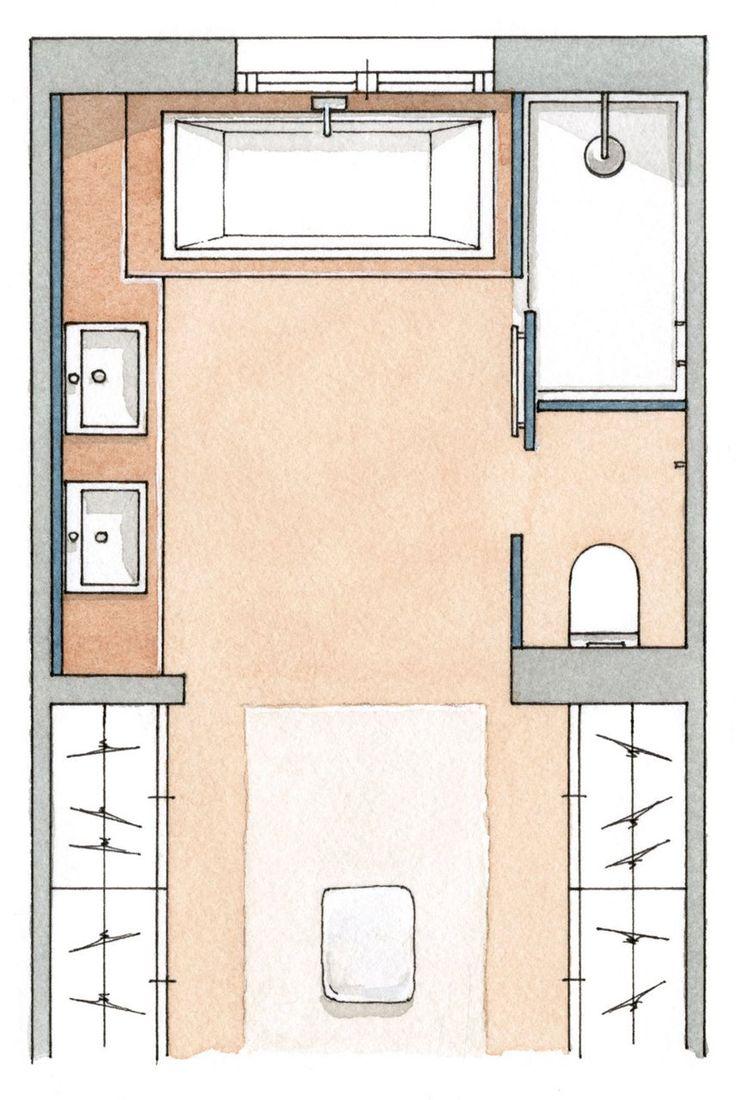 M s de 1000 ideas sobre planos de planta de la caba a en for Diseno de una habitacion con bano