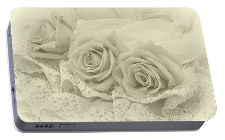 Sepia Roses Portable Battery Charger featuring the photograph Tenderness by Sandra Foster