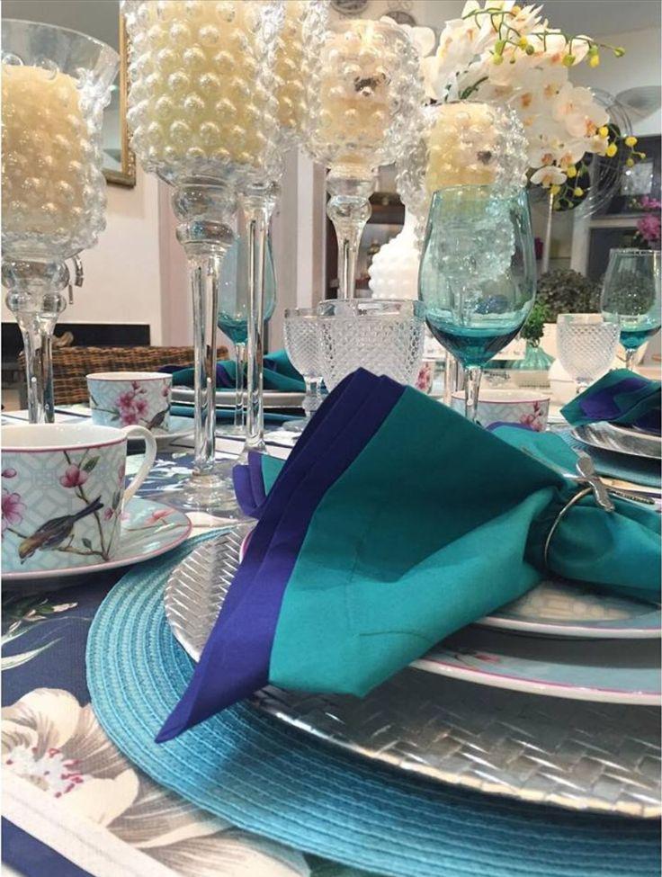 189 best deco de table bleu turquoise et argent images on for Decoration de table bleu turquoise