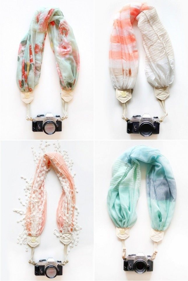 Glam up your camera with one of these chic straps. want want want.. Going to DIY this eventually I swear