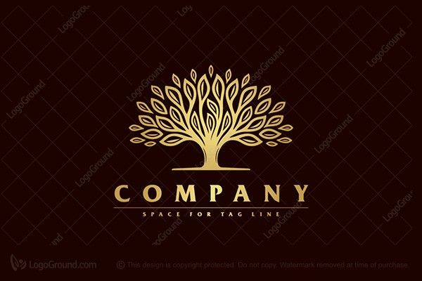 Logo for sale: Golder Tree Logo