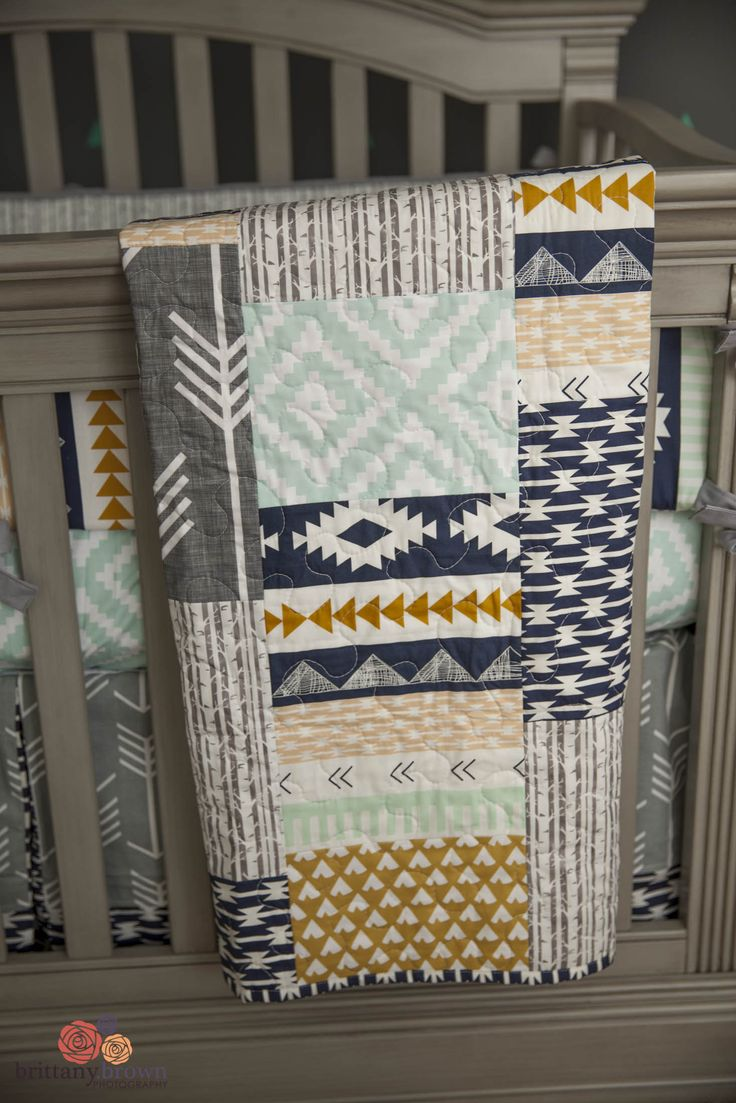 Jameson panel crib for sale - A Gender Neutral Tribal Aztec Nursery Featuring All Gray Solid Wood Furniture With A Slightly