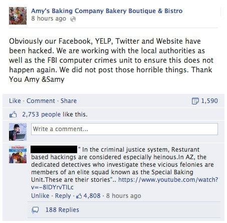 Amys Baking Company PR Scandal | Know Your Meme