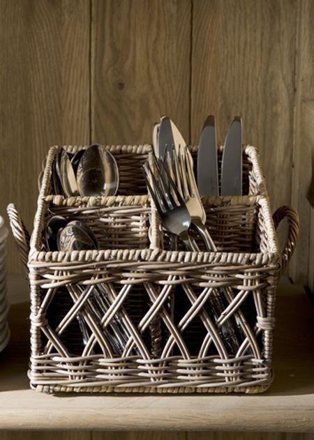 €34,95 Rustic Rattan Couvert Basket Square #living #interior #rivieramaison
