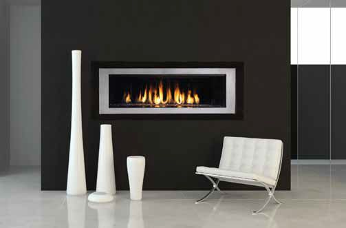 Rhapsody by Lennox Direct Vent Gas Fireplace with Nickel/Carbon Fiber Surround