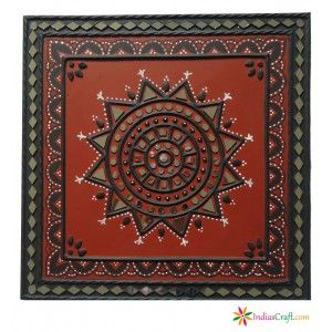 Handcrafted decorative mud #painting #frames .