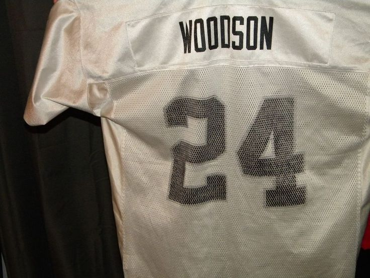 Reebok NFL Oakland Raiders Football Charles Woodson No. 24 Authentic Jersey XL #ReebokNFL #OaklandRaiders