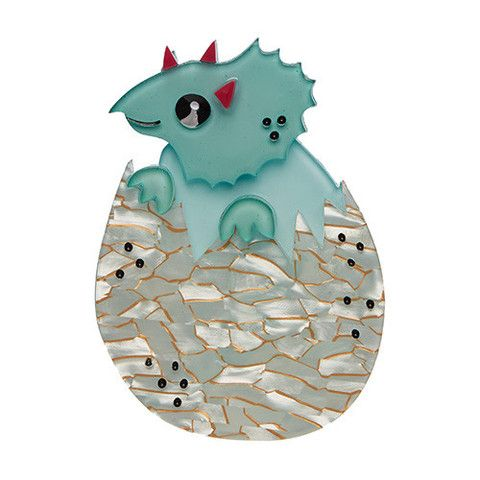 "Erstwilder Limited Edition Cera Says Hello Brooch. ""Born without fear was this hatchling. If you're looking for a new friend we think you've found one in our Cera."""