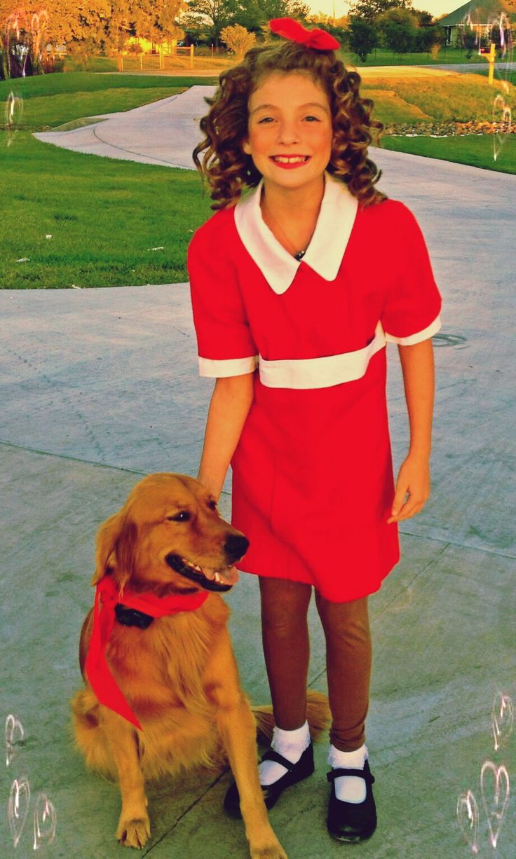 Annie costume, $5 goodwill dress and old white collared ...