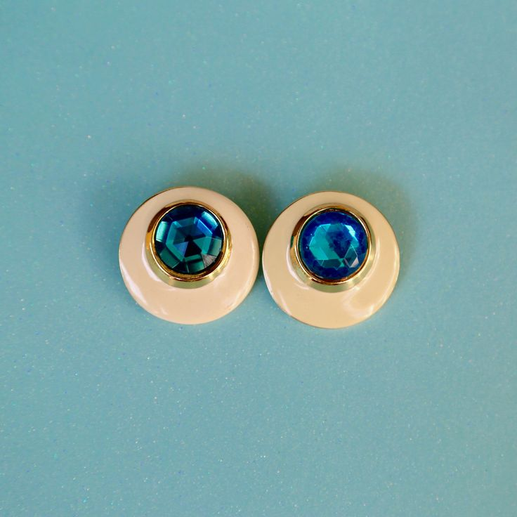 Turquoise Bold 80s Studs
