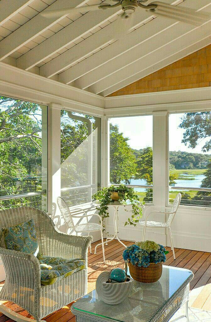 650 best porches images on pinterest balconies decks for Large screens for porches