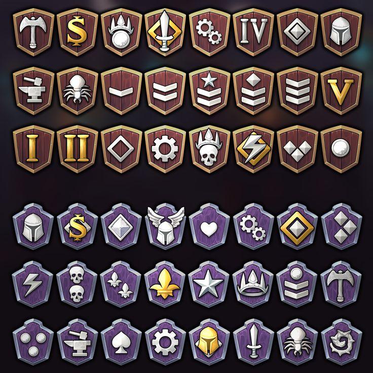 Fantasy Ranks Icons in 2020 Icon, Fantasy, Game icon