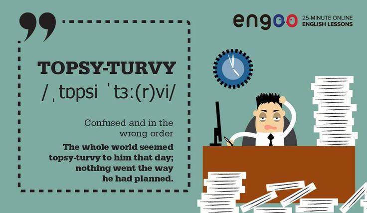 """Когда всё идёт не так, мы говорим """"topsy-turvy"""" (шиворот-навыворот) #словодня #wordoftheday"""