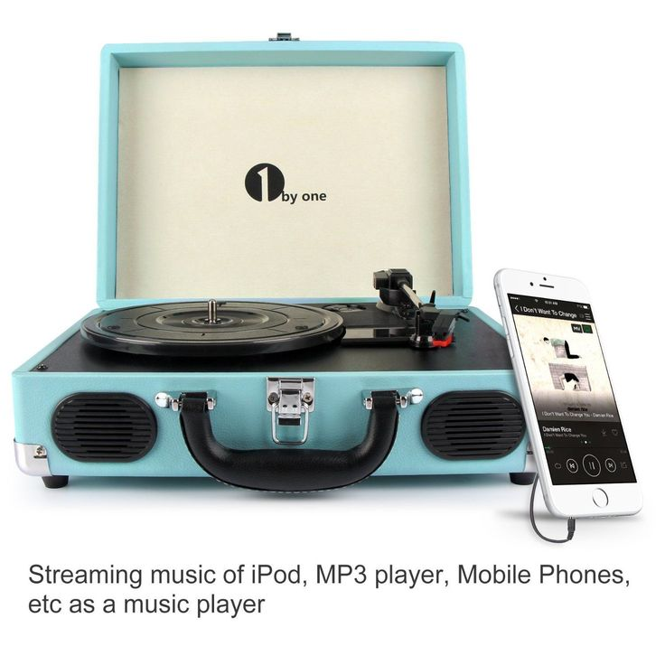 Lovely Belt Drive 3 Speed Stereo Portable Turntable With Built In Speakers, Portable  Turntable Supports RCA Output/ Headphone IPod/Mobile Phones Music Playback  ...