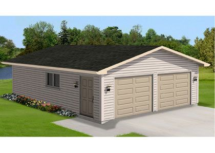 Home hardware garage kit standard 2 door garage 28 x 30 for Home hardware garages