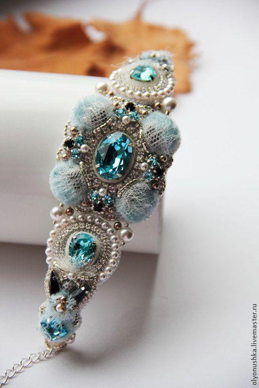 """Beaded bracelet / Браслет """"Cielo Seta.Primavera in Italia."""" - браслет, винтажные украшения"""