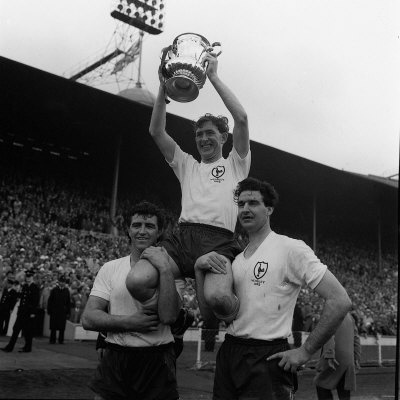 Danny Blanchflower lifting the FA Cup, 1962