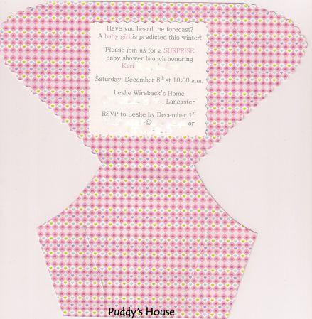 baby diaper invitation template