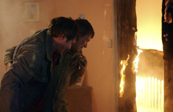 Memorable EastEnders departures:   (Alex Ferns as Trevor and Kacey Ainsworth as Mo) Trevor Morgan holds Little Mo hostage  Evil Trevor made poor Little Mo's life hell. Even after they had split, he began a campaign of abuse against her, culminating in taking Mo and his son Sean hostage in 2002 and setting fire to the house. Tom, the fiance of Sharon Watts (Letitia Dean), saved Mo and Sean, but a powerful explosion killed both Trevor and Tom.