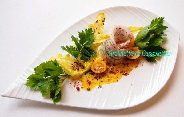 Filets de Carrelet sauce Crémée au Safran et aux Agrumes