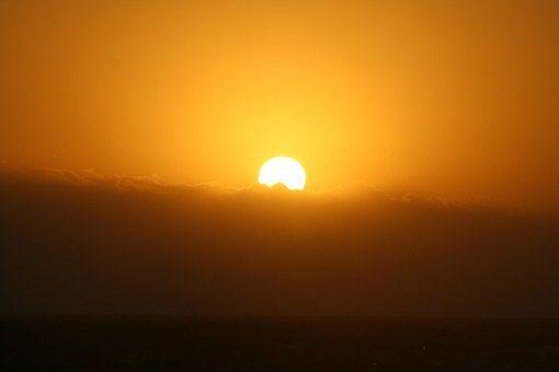 Sun, Słońce, Zachód Słońca, Wody