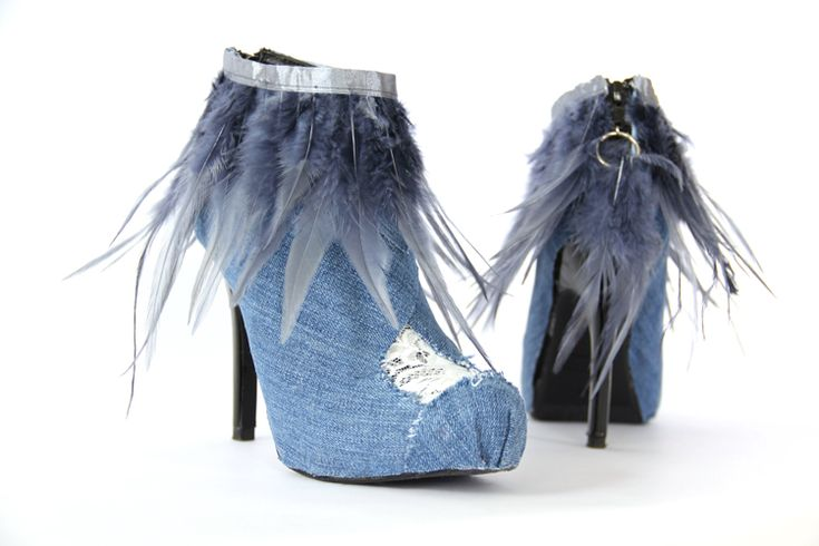 Shoe Mod   Denim and Lace Ankle Boots - The Sewing Rabbit