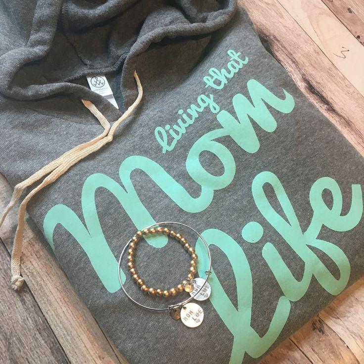 Living that Mom Life Grey Hoodie