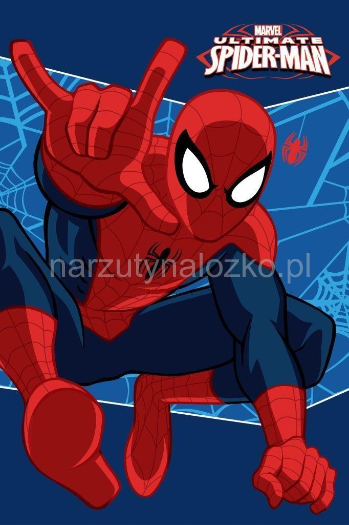 Czerwony Spiderman ręczniki dla dzieci w kolorze granatowym
