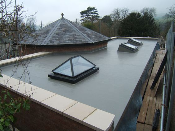 curved slate roof with parapet - Google Search