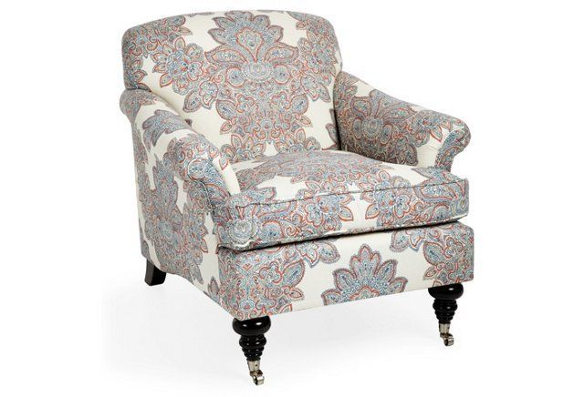 Best Joplin Chair Blue Orange Paisley Luxury Chairs Living 640 x 480